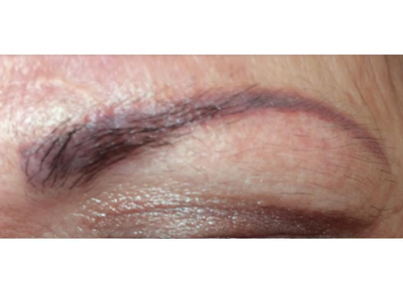 לפני איפור קבוע לגבות בפרופורציה